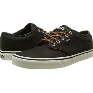 Vans Atwoods Low - Black Leather Men's Sz 11.5